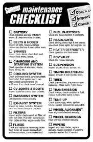 100 Truck Maintenance Council A Very Thorough Car Check List Easy Car