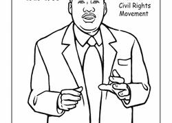 Color Dr Martin Luther King Jr