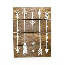 Arrow Pallet Sign Indie Home Decor Gifts For Her By LEVinyl