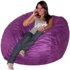 cozy sack 4 bean bag chair large purple