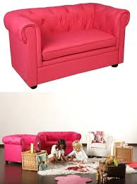 mini canape enfant canape de chambre canapac sofa enfant 2 oreillers meubles chambre