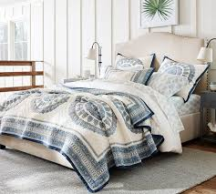 Pottery Barn Discontinued Bedding kayta block print quilt sham