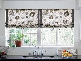 Black White Wallpaper Curtains Kitchen Window Ideas Fully Lined With Floral Pattern Design Subway Tile Backsplash Modern Grey Valance