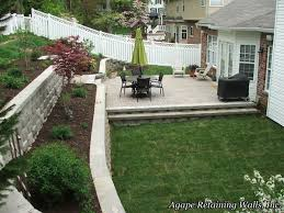 Agape Retaining Walls, Inc Photo Album 6 13 Multilevel Backyards To Get You Inspired For A Summer Backyard How To Create A Level Lawn Hgtv Your Garden Without Any Tools Youtube Charcoal Slate Patio Stones With Pea Stone Gravel Square Fire Bilevel Deck Home Pinterest Decking Porch Bench And Stone Pavers Patio Pond Hardscape With Garden Photo Leveling The Backyard Next Outdoor Makeover Of Bare Lifeless Pictures Two Deck Jacuzzi On The First Floor And