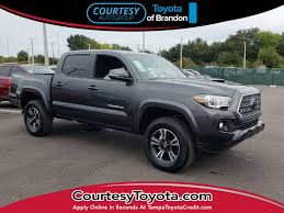 New 2019 Toyota Tacoma TRD Sport V6 For Sale   Brandon FL   2018 Toyota Tundra Trd Sport Exterior And Interior Walkaround Preowned Toyota Truck Highlander Le Utility In Hollywood 2017 Tacoma Crew Cab Pickup Hiram Sport Double 5 Bed V6 4x4 At Truck Youtube Review 2015 Is Your Weekend Getaway Bestride New I Tuned Suspension Nav 4 1980 4wd 49k Original Miles Paint 2016 Offroad Vs Mishawaka Jm173303