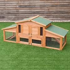 Gymax 71 Large Chicken Coop Outdoor Garden Backyard Large Wood Hen