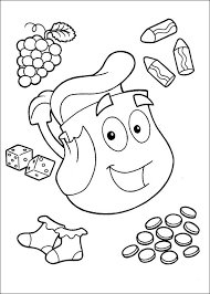 Dora The Explorer Coloring Pages Kids