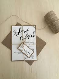 Rustic Wedding Invitation Kit Kraft Simple Twine Boho