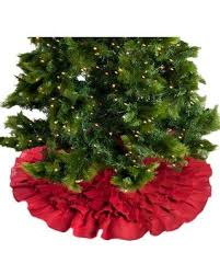 The Holiday Aisle Ruffled Christmas Tree Skirt HLDY7593 Color Red