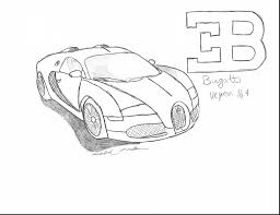 Astounding Bugatti Veyron Drawings Easy With Coloring Pages And