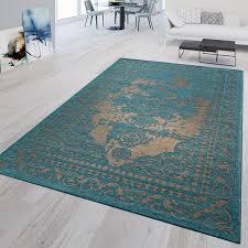kurzflor teppich modern wohnzimmer bordüre orient stil