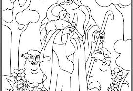 Holiday Coloring Pages Shepherd And Sheep Page The Good Easter Craft