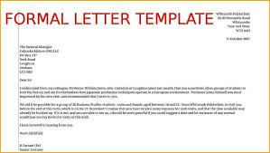 formal letter example – aimcoach