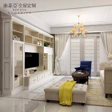 Custom Design Wooden Furniture Living Room Hall Tv Showcase