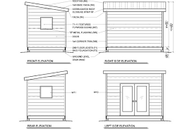 8x12 Storage Shed Blueprints by 8x12 Modern Shed Plans Studio Shed Office Shed Plans Steve
