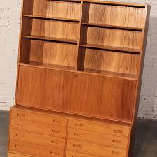 Drop Front Secretary Desk by Sold U2013 Danish Teak Bookcase Desk Secretary Designed By Poul Hundevad