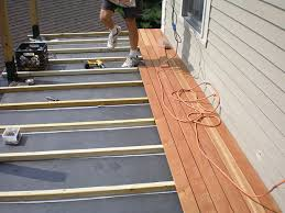 or use wood tiles torch sleeper deck awesome how to build a
