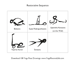 Restorative Yoga Mini Sequence Click On The Image To Print Only