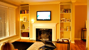 Living Room With Fireplace And Bookshelves by Furniture Full White Tone Built In Book Case Which Equipped With