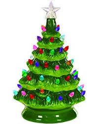 Christmas Tree LED Light Up 8 Inch Ceramic Decorative Tabletop Figurine