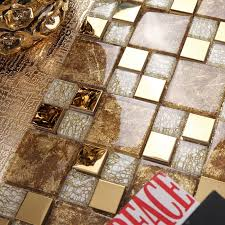 goldenen glasmosaik mixed goldene edelstahl mosaik fliesen für küche backsplash fliesen badezimmer dusche kachel flur grenze