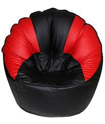 Comfort Bean Bags XXXL Bag Cover Red Black Amazonin Electronics
