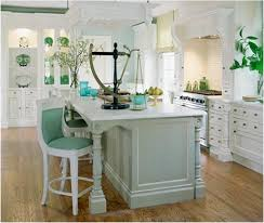 Beautiful White Kitchens Another Kitchen With A Beachy Blue Green Island Classy And