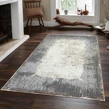 pera teppich grau creme braun streifen abstrakt design