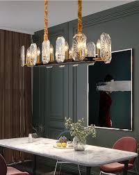 luxus kristall rechteck led kronleuchter beleuchtung