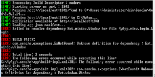 Sencha Kitchen Sink 65 by Android Error While Building Application Using Ext Js Stack