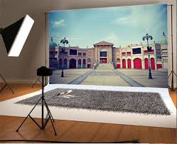 Laeacco Old Building Square Exterior Light Scenic Photographic Backgrounds Customized Photography Backdrops For Photo Studio In Background From Consumer