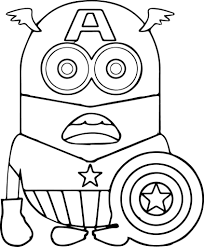 Minions Coloring Pages Minion To Print