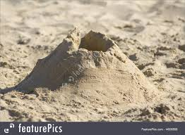 Simple Sandcastle Royalty Free Stock Photo