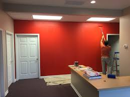 Industrial Office Project For State Farm Insurance Real Red Color