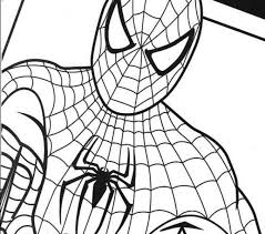Spider Man Coloring Pages Free Printable Spiderman For Kids To Download