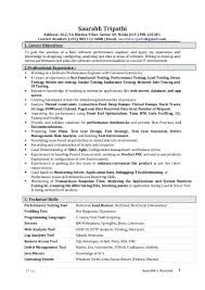 Performance Testing Resume Samples