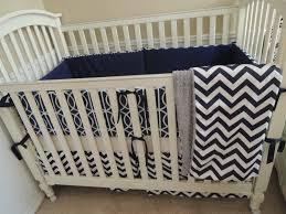 Navy And Coral Crib Bedding by Navy Blue Baby Bedding Dwell Navy Blue Chevron Custom Baby