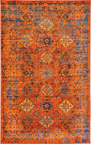 Amazing Orange And Blue Area Rug Rugs Decoration With Regard To
