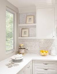 mini brick marble backsplash tiles transitional kitchen