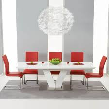 100 White Gloss Extending Dining Table And Chairs Malibu Set With Coloured