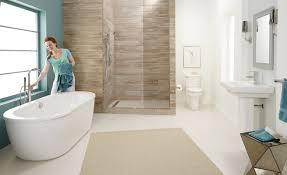 Kohler Freestanding Bath Filler by White Clawfoot Kohler Bathtubs With Tile Flooring And Bathtub