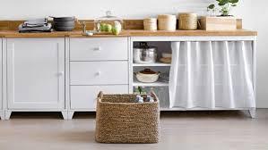 meuble cuisine diy meuble de cuisine avec rideau mobilier design décoration d