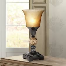 Torchiere Table Lamp Base by George Antique Alabaster Glass 13 1 2