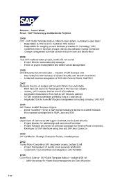 Project Manager Resume Summary Examples It Program Sample Example Luxury Sap
