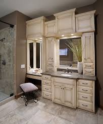 Bathroom Vanities With Matching Makeup Area by Best 25 Bathroom Cabinets Ideas On Pinterest Master Bathrooms