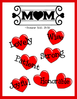 Mothers Day Bible Printables