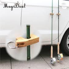 100 Rod Racks For Trucks MagiDeal Wooden Fly Fishing Rack Holder Magnetic Guard