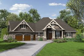 Craftsman Style Floor Plans Bungalow by 3 Bedrooms Plus Office Single Story With Bonus Room Above Garage