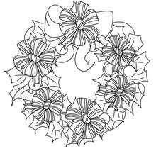 Ribbon Christmas Crown Coloring Page