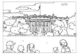 The White House Colouring Page